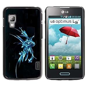 Be Good Phone Accessory // Dura Cáscara cubierta Protectora Caso Carcasa Funda de Protección para LG Optimus L5 II Dual E455 E460 // Abstract Art Silver Splash