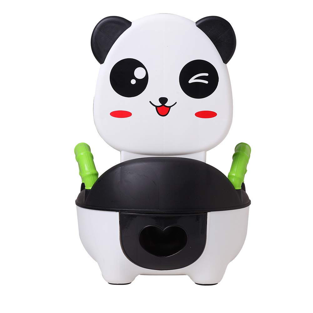 Glenmore Childrens Boys and Girls Potty Training Chair Toilet Seat Animal Potty with Handle and Backrest Panda ZXDH