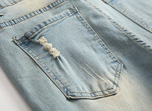 OBT Big Boy's Vintage Ripped Skinny Destroyed Stretch Slim Distressed Jeans Pants 14 by OBT (Image #6)