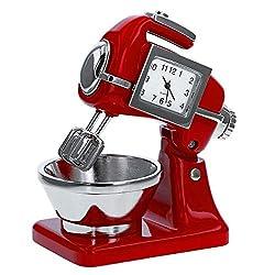 Miniature Cake - Food Mixer Red Novelty Quartz Movement Collector Clock