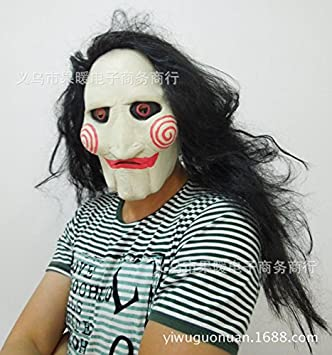 Saw máscara peluca matanza tema de la película de Halloween cosplay máscara , #1