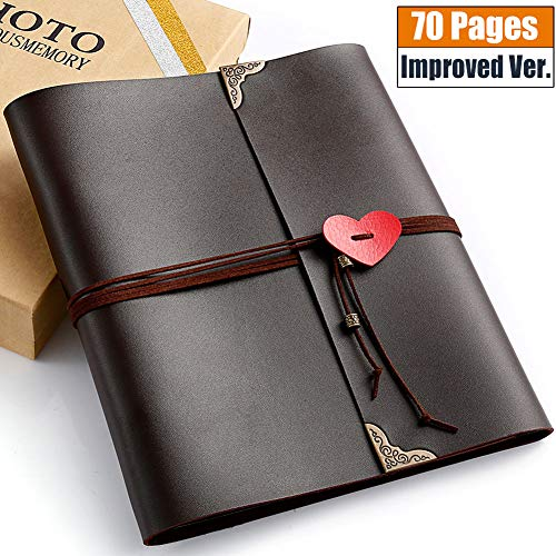 - Polaroid Photo Album, 70 pages Casaon 3 Ring Binder Vintage DIY Leather Scrapbook for Anniversary Birthday Wedding Travel Graduation with Pen & Photo Corners, Holds 2x3