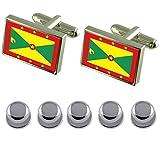 Shirt Dress Studs Grenada Flag Cufflinks