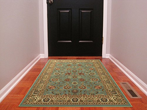 Ottomanson Ottohome Collection Persian Style Rug Oriental Rugs with Non-Skid (Non-Slip) Rubber Backing Area Rug, 39