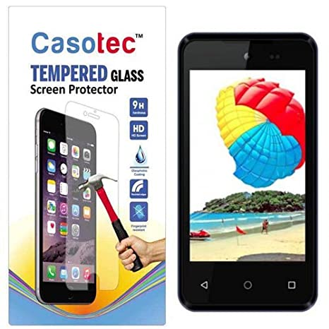 Casotec Tempered Glass Screen Protector for Micromax Bolt D303 Screen guards