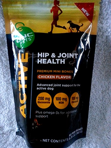 GNC Pets Ultra Mega Active Dog Hip and Joint Health Treat Chicken Flavor 60 Mini Bones (Mega Ultra Chicken compare prices)