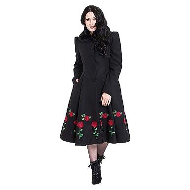 Hell Bunny Rosa Rossa Abrigo Mujer Negro XS: Amazon.es: Ropa y accesorios