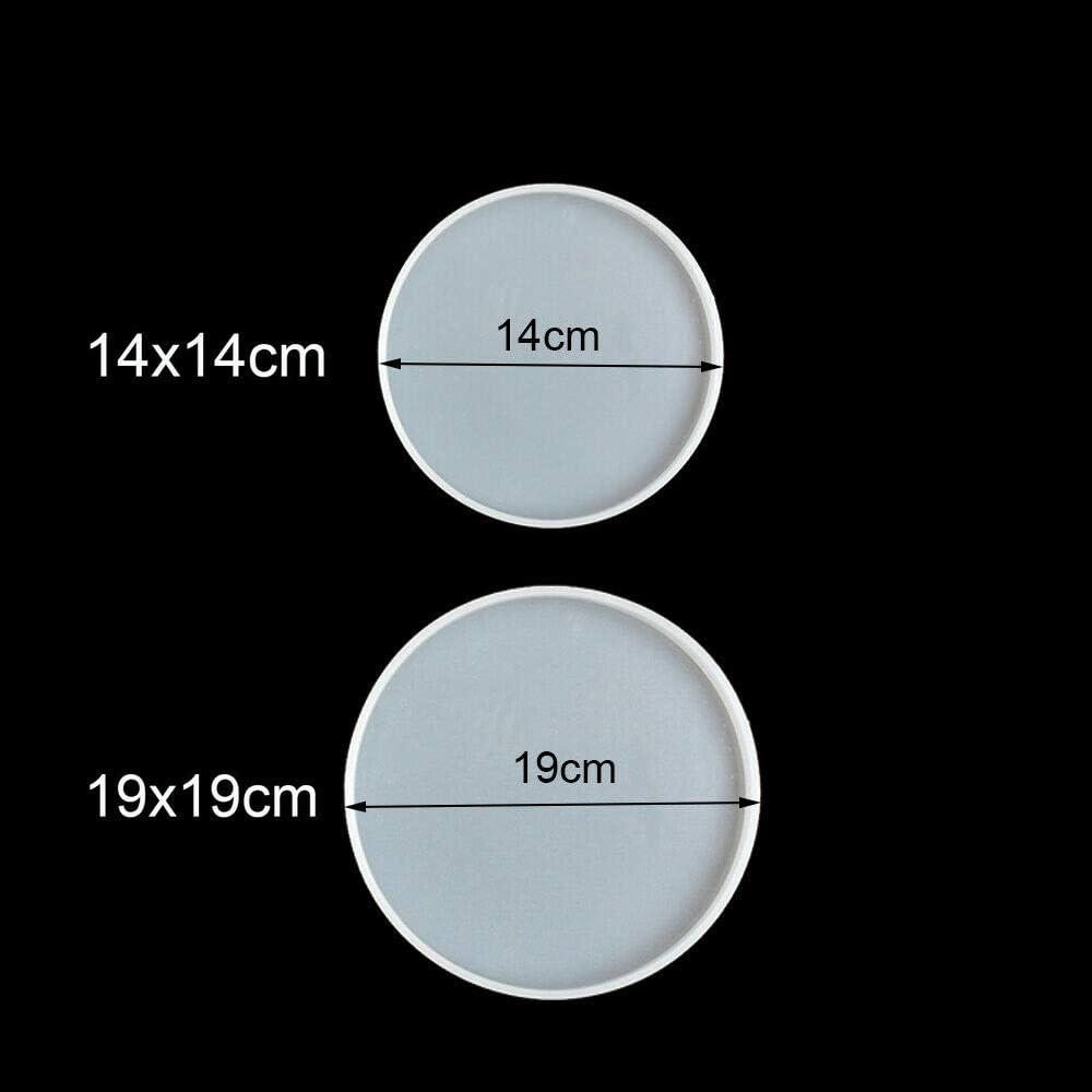 Sottobicchiere rotondo trasparente in resina fusione stampo in silicone epossidico ciondolo stampi per il fai da te sottobicchiere gioielli fai da te