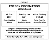 Minka-Aire F787-WHF Simple 52' 3-Blade Ceiling Fan & Remote Control, Flat White Finish