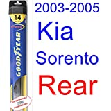 2003-2005 Kia Sorento Wiper Blade (Rear) (Goodyear Wiper Blades-Hybrid) (2004)