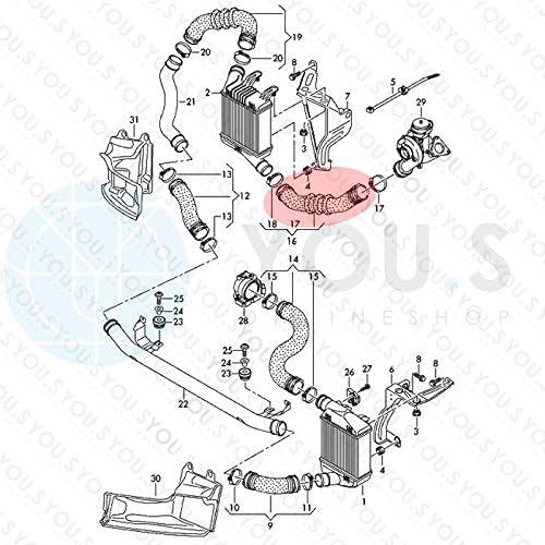 49//56 mm 4F0145738AE Turboschlauch Ladeluftschlauch Innendurchmesser ca