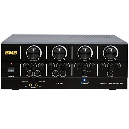 BMB DAH-100 200W High Performance Digital Karaoke Mixing Amplifier with Bluetooth, Designed in Japan