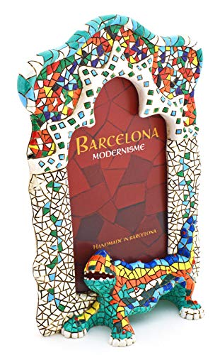 (ART ESCUDELLERS Dragon Park GÜELL Resin Photo Frame Inspired by The Modernist Architecture of Barcelona Handpainted for Photos 13x17cm.)