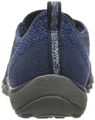 Damen Skechers für Blau Low Marineblau Breathe Sneakers Fortune Easy Top qwZqxRSr