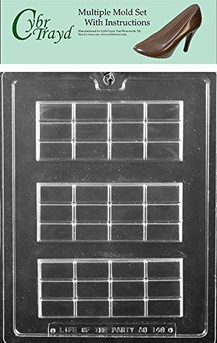 Break Apart Bar Candy Molds (CybrTrayd AO149-6BUNDLE Break Apart Bar Chocolate Candy Molds (6 Pack), Clear)