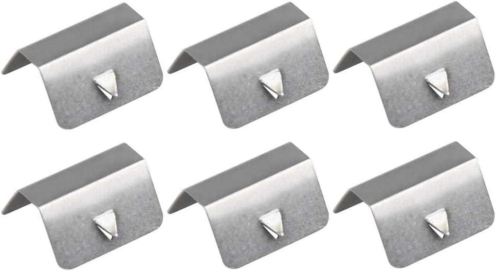 6 Clip fisse in Acciaio Inox per Auto per Vento e Pioggia X AUTOHAUX