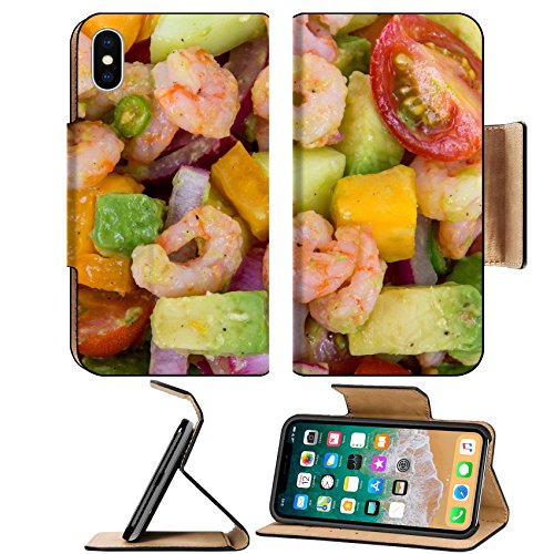MSD Premium Apple iPhone X Flip Pu Leather Wallet Case IMAGE ID: 30744754 Shrimp and avocado summer salad
