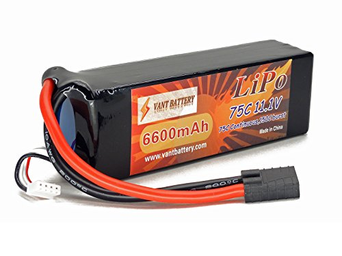 - 51w9 0riFJL - 11.1V 6600mAh 3S Cell 75C-150C LiPo Battery Pack w/ Traxxas High Current Style Connector