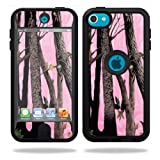 Mightyskins Protective Vinyl Skin Decal Cover for OtterBox Defender Apple iPod Touch 5G 5th Generation Case Pink Tree Camo