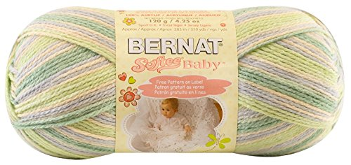 Bernat Softee Baby Yarn, Ombre, 4.2 Ounce, Green Flannel, Single Ball