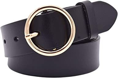 Leather Belts for Women, Vonsely Genuine Leather Womens Belts with Gold  Buckle at Amazon Women's Clothing store