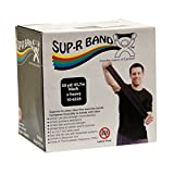 CanDo 10-6325 Sup-R Latex Free Exercise Band, 50 yd Roll, Black-X-Heavy
