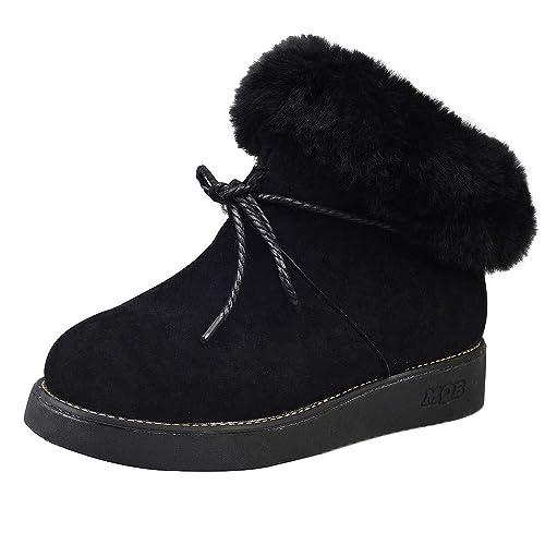 ALIKEEY Las Mujeres Calzan Los Botines Decorativos De La Felpa Más Terciopelo No-Resbalan Las Botas Calientes De La Nieve Futbol Hombres Zapatos Y ...