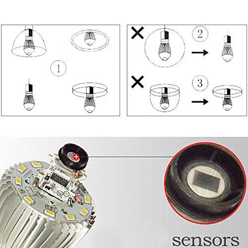 LJY E27 7W PIR Infrared Motion Detect \u0026amp; Light Sensor LED Energy ...