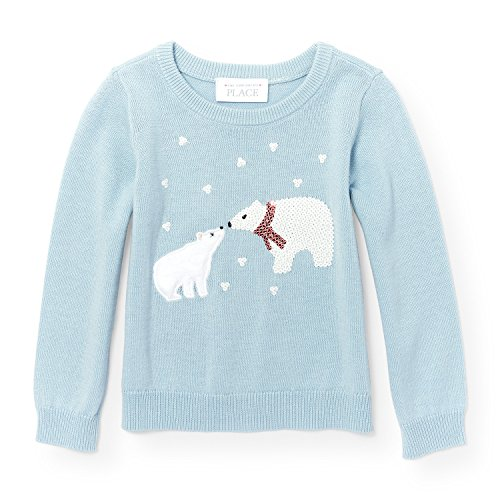 The Children's Place Baby Little Girls' Icon Sweater, Cosmic Light 94302, 5T