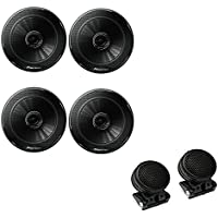 (2 )Pioneer TS-G1645R 6-1/2 2-way car speakers with TW-800 Super Dome Tweeters with 4 Mounting Options