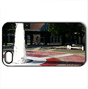 VACAVILLE FOUNTAIN - Case Cover for iPhone 4 and 4s (Watercolor style, Black)