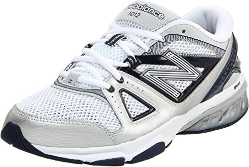 New Balance Mens MX1012 Cross-Training Shoe, Blanco/azul marino, 41.5 EU/7.5 UK