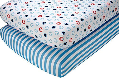 Disney Mickey Mouse Crib Sheet Set, 2 -