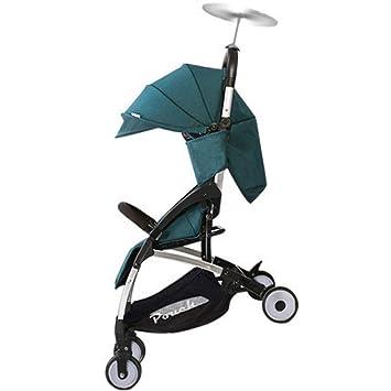 Rwdacfs Sillas de Paseo El Carrito para niños Ligero y Plegable, se Puede Utilizar en el Paraguas para bebés del avión, Adecuado para bebés Nacidos hasta 15 ...