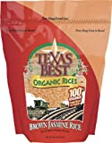 Texas Best Organics Rice, Og, Jasmine Brown, 32-Ounce (Pack of 3)