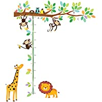 Decowall DW-1402 Little Monkeys Tree and Animals Height...