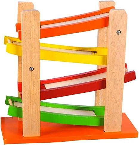 KOROWA - Escalera de madera para bebés y niños con diseño de orbita, juguete de polea educativo, juguete deslizante para niños y niños: Amazon.es: Juguetes y juegos