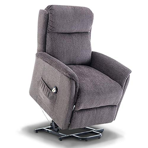 BONZY Lift Recliner Power Lift Chair Soft and Warm Fabric with Remote Control for Gentle Motor - Gray