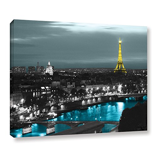 ArtWall Revolver Ocelot 'Paris' Gallery-Wrapped Canvas Artwork, 36 by 48-Inch from ArtWall