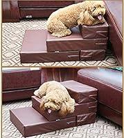 Zhyaj Rampa para Perros Escalera Perro Escaleras para Perros Cama Perro Grande Perros escaleras Altas Mascotas Tela Malla Escalera Perro Desmontable Ensamblable Fácil Limpiar Favorito Familia Azul: Amazon.es: Hogar