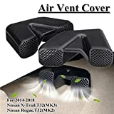 MONNY 2x Car Under Seat Air Duct Vent Grille Cover Air Conditioner Protective Shell for Nissan X-Trail Rogue T32 2014-2018
