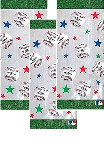 (60 Baseball Dream Rawlings Cello Loot Bags Favor, Plastic, 11