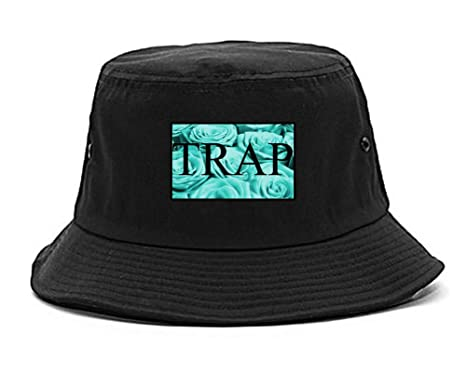 Kings Of NY Trap Floral Style Hood Music Hood Dope Bucket Hat Black db86b232c97