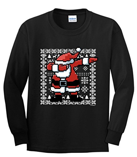 Dabbing Christmas Sweater Themed T Shirt
