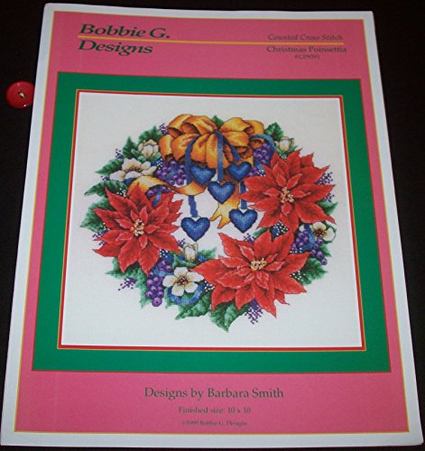 Christmas Poinsettia Counted Cross Stitch (#CP9391)