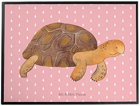 Mr. & Mrs. Panda Mädchen, Schreibtisch, Schreibtischunterlage Schildkröte marschiert - Farbe Rot Pastell