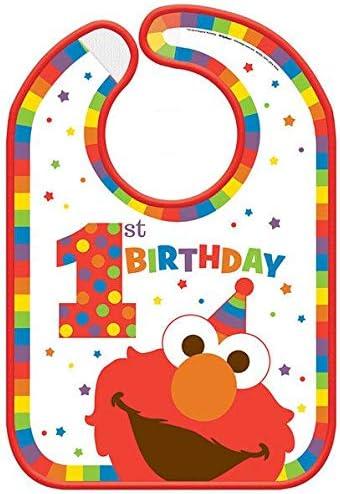 Sesame Street Elmo Baby 1st High Chair Banner Decoration Plus Elmo Baby BIB 1st and BIRTHDAY CARD