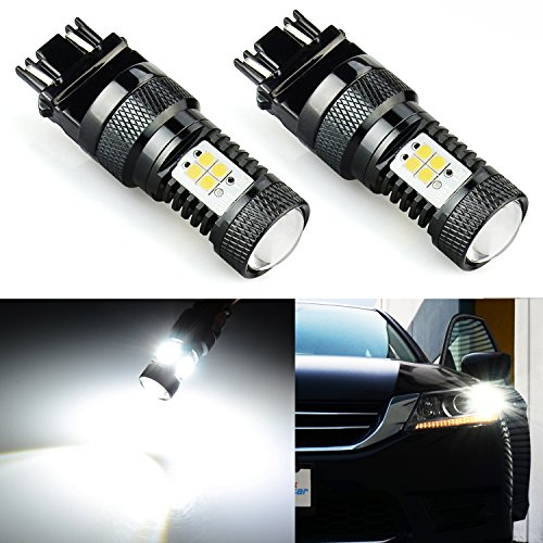 JDM ASTAR 1500 Lumens Extremely Bright 3030 Chipsets 3056 3156 3057 3157 4157 LED Bulbs with Projector, Xenon White (Code Mitsubishi Radio)