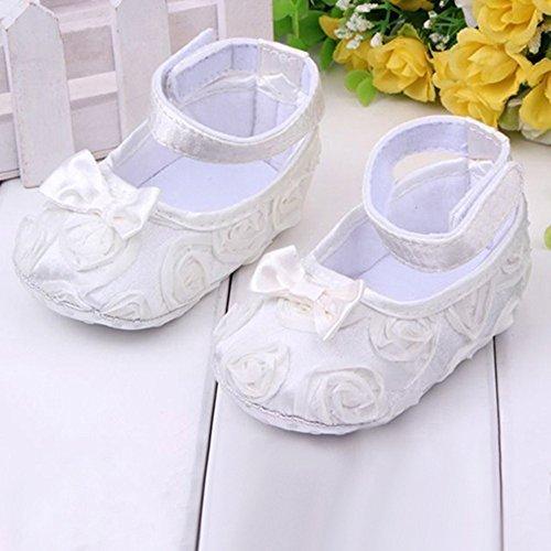Sanwood - Zapatos para bebé (antideslizantes y cómodos) rosa rosa Talla:x-large blanco
