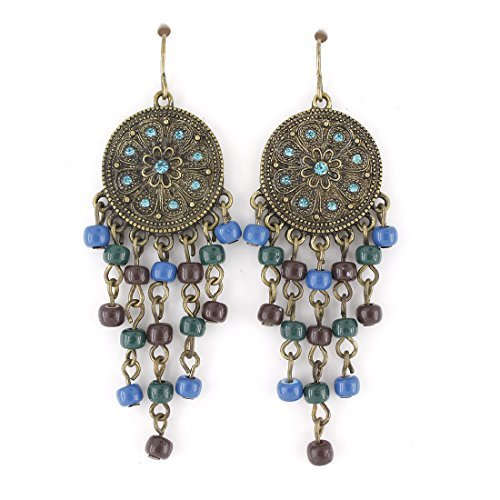 gold-tone-bohemia-style-blue-crystal-and-beads-dangle-drop-earrings